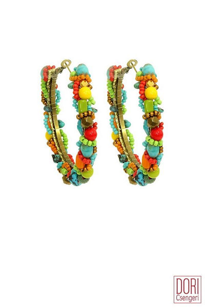 Carmel Bold Colored hoop Earrings
