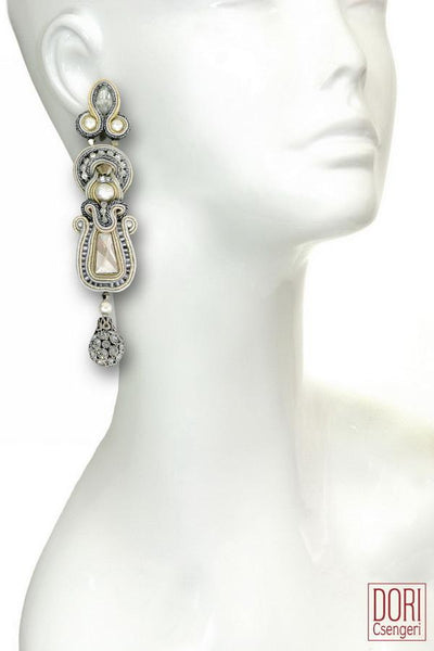 Calista Pearl & Crystal Earrings