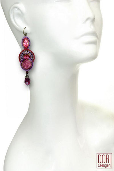 Cerise Crystal Earrings