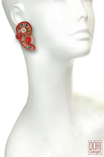 Fireworks, Unique Clip-on Earrings