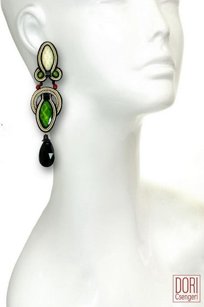 Hedone Green Earrings