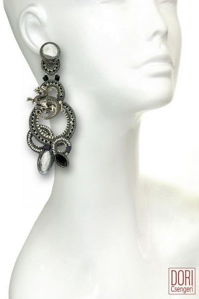 Lady Dragon Statement Earrings