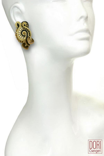 Nefertiti, Unique Clip-on Earrings