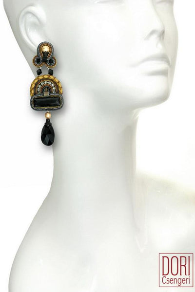Opera Black Crystal Earrings