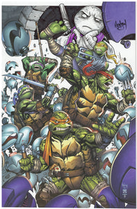 Teenage Mutant Ninja Turtles #106 Surprise Comics Exclusive Virgin Cover Remarqued  By Eric Henson