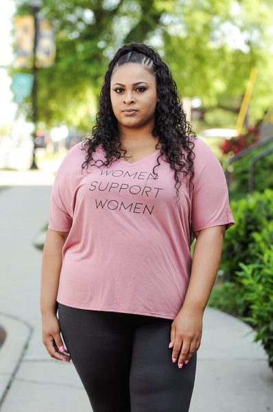 WOMEN SUPPORT WOMEN v-neck tee