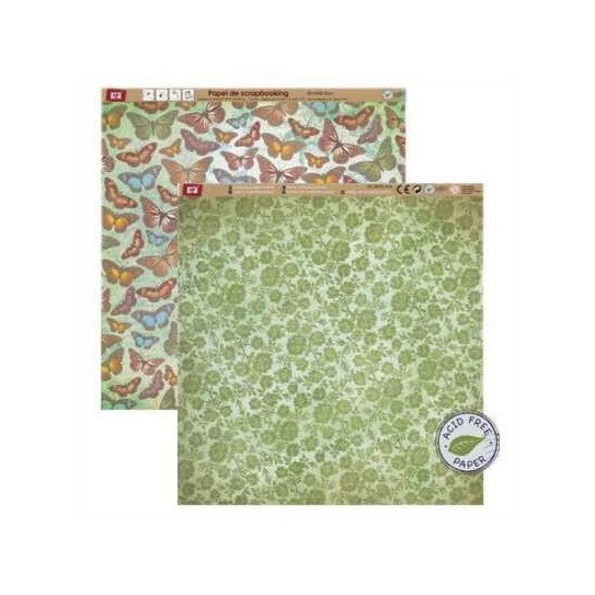 Papel Scrapbook MP 305X305mm Pd101-26 - Papeloja