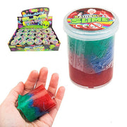 rainbow slime, puttys, stretchies and slimes