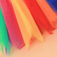 Rainbow Net Child Size Tutu Skirt