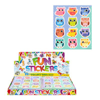 12pc Cartoon Owl Sticker Set