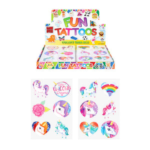 6pc Mini Unicorn Tattoo's
