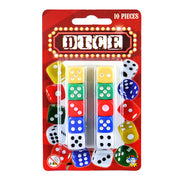 10pc Assorted Colour Dice Set