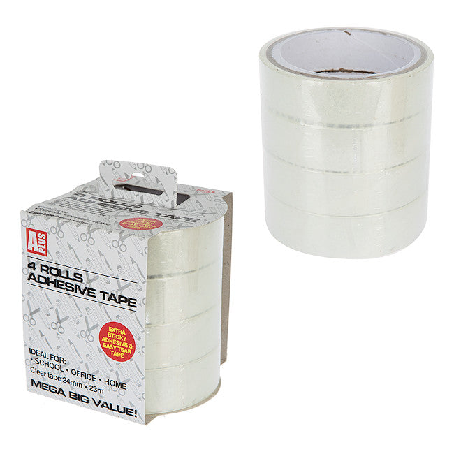 4 Pack of 24mm Adhesive Tape