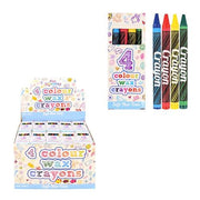 4pc Wax Crayon Set