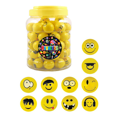 Yellow Emoji Face Bouncy Jet Balls