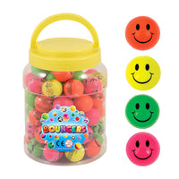 Neon Smiley Face Bouncy Jet Balls
