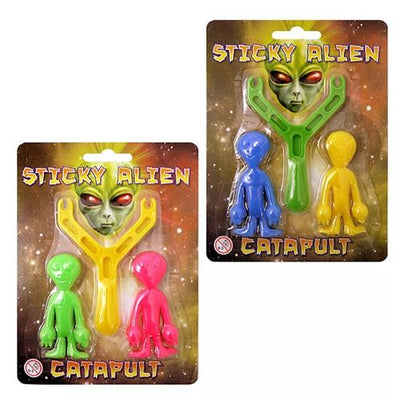 2pc Sticky Alien Catapult Set