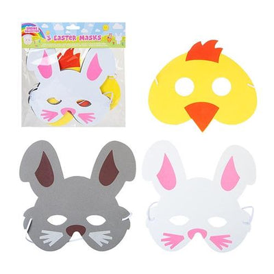 3pc Easter EVA Foam Mask Set