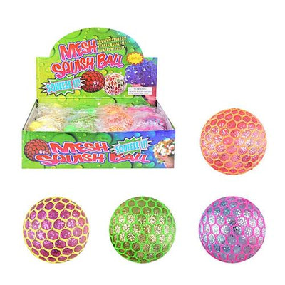 Squeezable Colour Change Ball In a Net