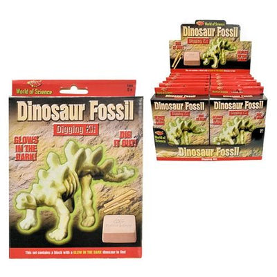 Glow in Dark Dinosaur Fossil Excavation Kit [world of science] (12)