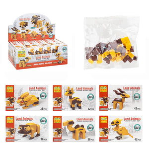Wild Land Animal Brick Sets