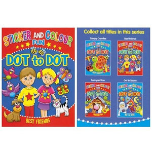 Sticker, Colour & Dot to Dot Book
