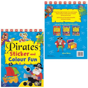Pirate Sticker & Colour Fun