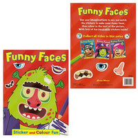 Funny Faces Sticker & Colour