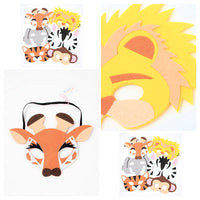 Children's Wild Animal Felt Face Mask (12)