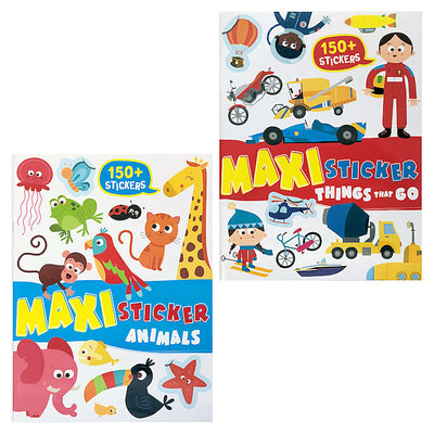 Animals & Things That Go Maxi 150+ Sticker Book