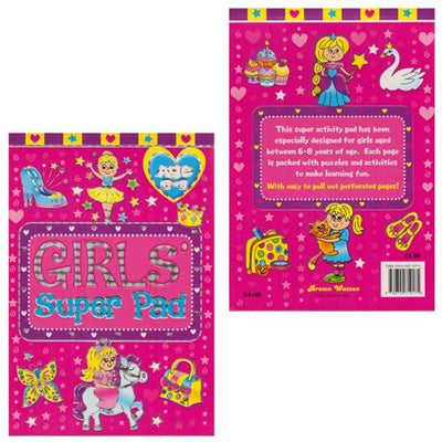 Girls Super Activity Pad - Ages 6-8