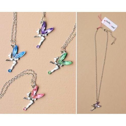 Coloured Crystal Fairy Necklace