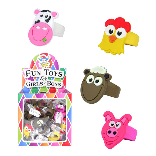 Kids Farm Silicone Rings [Fun toys]