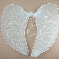 Kids White Angel Wings