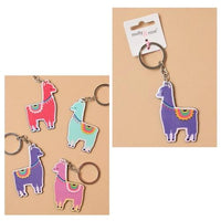 Bright Coloured Acrylic Alpaca Keyring