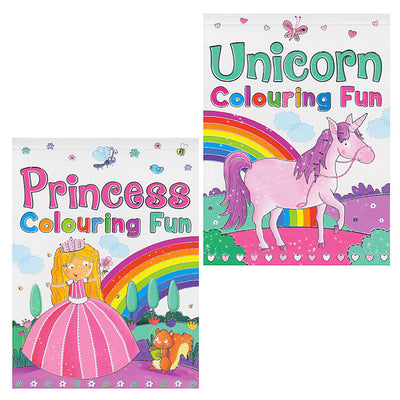 Princess & Unicorn Colouring Fun Pad