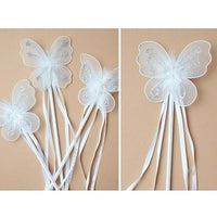 White Butterfly Ribbon Wand