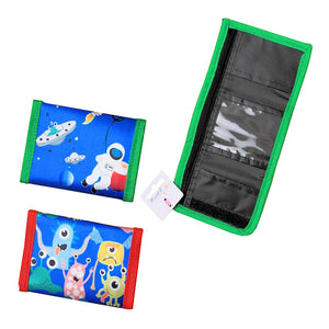 Bright Coloured Monster & Spaceman Rocket Print Wallet