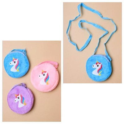 Embroidered Unicorn Motif Purse Handbag