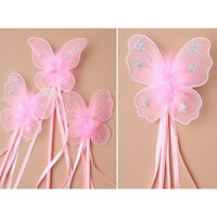 Pink Butterfly Ribbon Wand