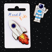 Spaceman & Rocket Pin Badges (12)