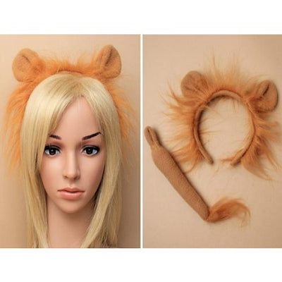 Lion Alice band & Tail Set