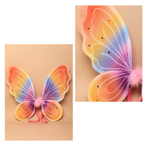 Rainbow Coloured Fairy Wings [Medium]