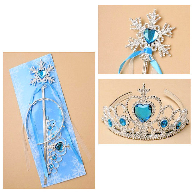 Ice Princess Snowflake Wand & Tiara Set