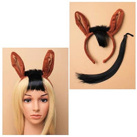 Brown Horse Ears Head Band with Tail (6)