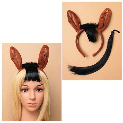 Brown Horse Ears Head Band with Tail