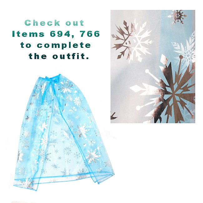 Turquoise Frozen Blue Child's Cape (3)