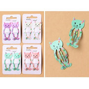 2pc Cat Design Hair Clips