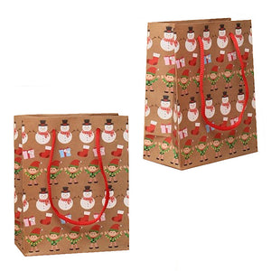 Christmas Linear Design Gift Bag [Small]