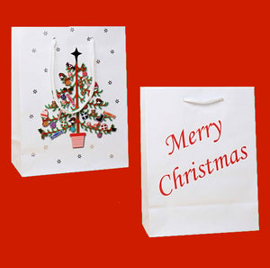 Merry Christmas Tree Gift Bag [Small]